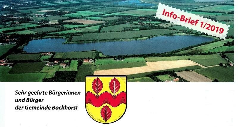 Info-Brief 1/2019 der Gemeinde Bockhorst