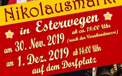 Nikolausmarkt Esterwegen am 30.11. und 01.12.2019