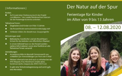 Ferientage für Kinder im Alter von 9 bis 13 Jahren im Marstall Clemenswerth