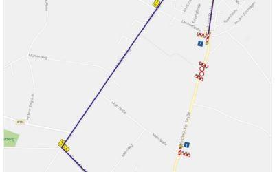 Vollsperrung L30 Heidbrücker Straße, Esterwegen