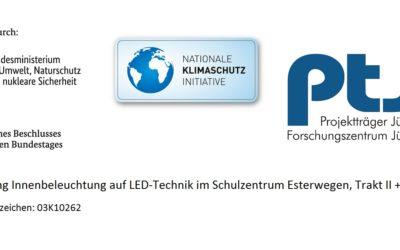 Umrüstung Innenbeleuchtung auf LED-Technik im Schulzentrum Esterwegen, Trakt II + III